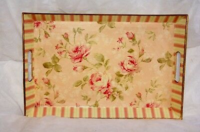 Wholesale stock job lot Decorative melamine tray pink with floral design x6