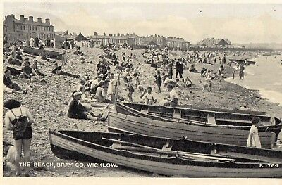 THE BEACH BRAY CO. WICKLOW IRELAND IRISH POSTCARD VALENTINES POSTCARD No. R1764
