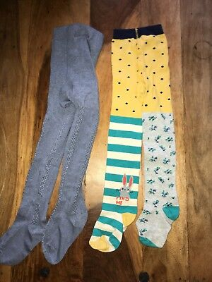 Girls 3-4 Teal Bunny Range Tights Bnwot two pairs