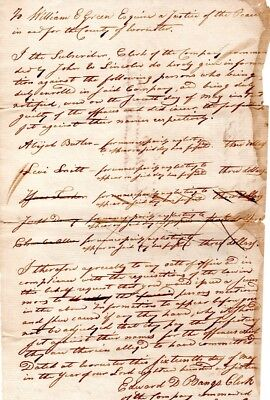 1816, Massachusetts Militia, failure to comply with military, statements of fine