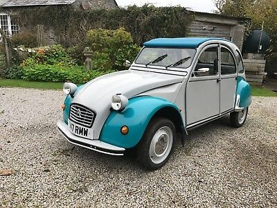 Citroen 2cv with galvanised chassis.