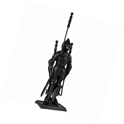 Home Discount® 5 Piece Knight Soldier Fire Companion Set Fireplace Fireside