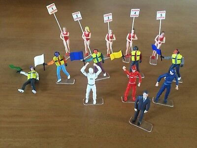 14 Carrera Figures (5 Grid Girls/ 3 Winning Drivers And Official And 5 Marshalls