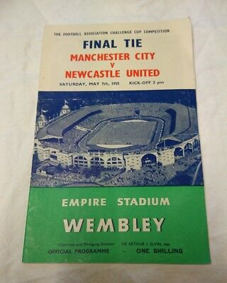 1955 FA Cup Final Programme, Manchester City Vs Newcastle Utd (Sat May 7th)