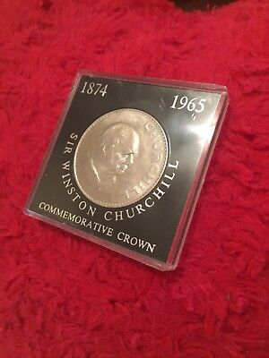 Winston Churchill 1965 Commemorative Coin In Case Uncirculated Collectible Crown