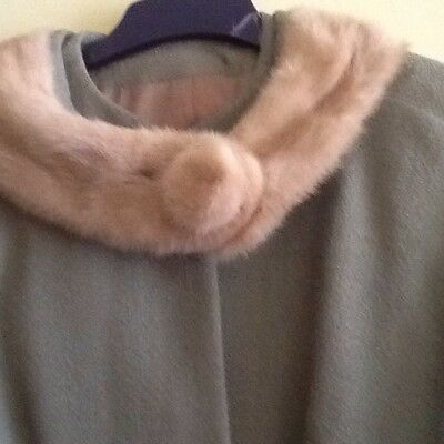 Vintage 1960s Blonde Mink Collar Jacket