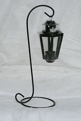 Wholesale stock job lot Garden Metal T-Lite lantern with Stand Black x21