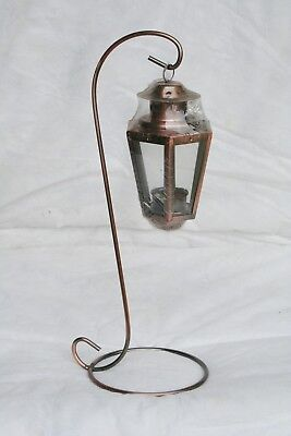 Wholesale stock job lot Garden Metal T-Lite lantern with Stand Copper x23