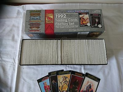 AD&D Dungeons and Dragons Trading Cards 750 Factory Set 1992 Very Rare