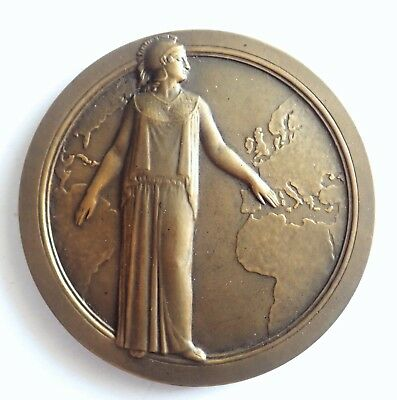 MEDAL bronze Insurance the / of'union FIRE place Vendome 1928 (T175)