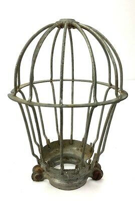 OLD VINTAGE (1) of 4 WIRE METAL LIGHT Bulb CAGE GUARD Industrial - NY Barn Find