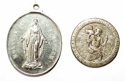 Set Of 2 Religious Medallions