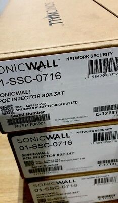 NEW SonicWALL 01-SSC-0716 PoE Injector 802.3AT 01SSC0716