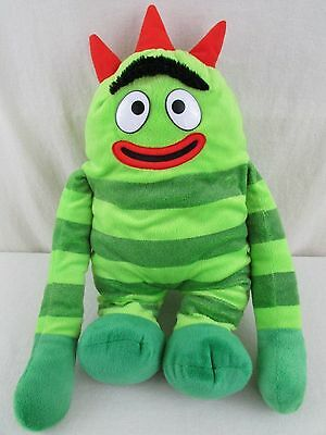 Yo Gabba Gabba Plush Backpack Brobee Green Soft Stuffed Doll