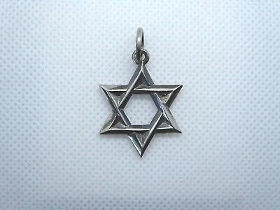 """Oxidized Sterling Silver """"Star of David"""" Pendant Charm after """"Chrome Hearts"""""""