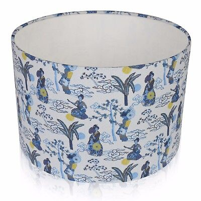 Japanese Blue and White Geisha Girl Lampshade ,  Table Lamp ,  Pendant Shade