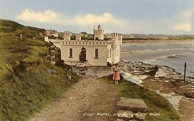 CLIFF BATHS ENNISCRONE CO. SLIGO IRELAND IRISH POSTCARD by G. KIELY