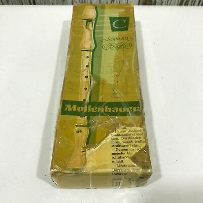MOLLENHAUER Brown Pearwood Vintage Wind Instrument Student Boxed 30692