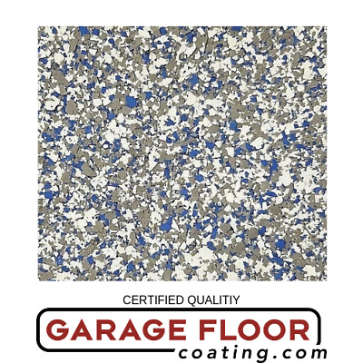 """5 lbs Decorative Color Chip Flakes for Epoxy Floor Coating, 1/4"""" Blend CCB-005"""