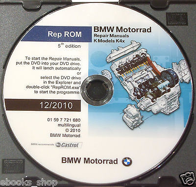 DVD MANUALE OFFICINA REPROM K4x WORKSHOP BMW K-1200-K-1300-S-R-GT - Ed.5^ 2010