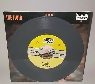 The Fluid Tin Top Toy SP57 ****CHARCOAL GREY**** Sub Pop Grunge Nirvana Mudhoney