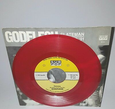 Godflesh Slateman SP114 RED Sub Pop Grunge Nirvana Soundgarden TAD The Fluid