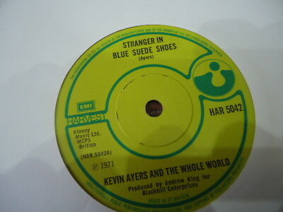 "Kevin Ayers Stranger in Blue Suede Shoes 7"" Single"