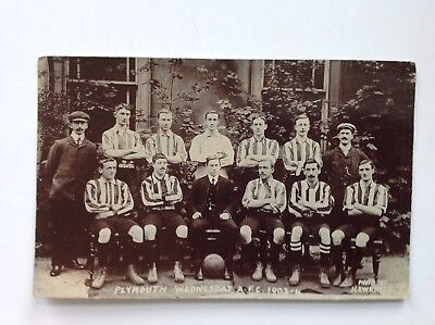 Original postcard. Plymouth Wednesday Amateur Football Club. 1903/4