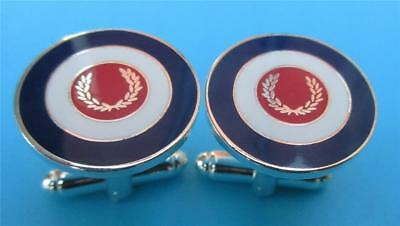 Cufflinks Set - Mod Target Laurel Scooter Badge