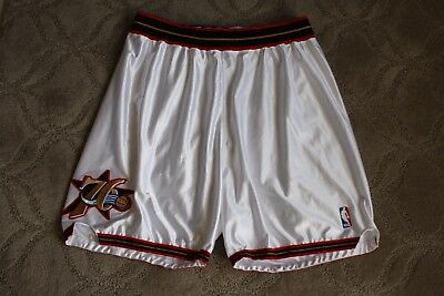 2000-01 Philadelphia 76'ers player/game used home shorts Champion size 44+1+1