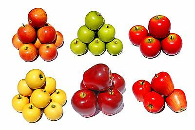 Artificial fruit, Artificial Apple, Hand Painted Plastic Apples