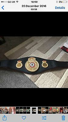 WBA world title boxing belt
