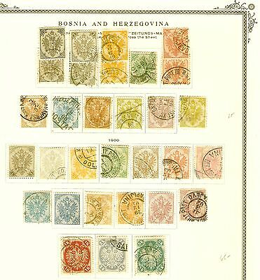 Bosnia And Herzegovina   Coll 8 Pages  Mint Used  Fvf