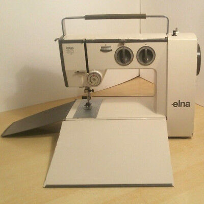 Lovely Compact Portable Elna Lotus SP Electric Sewing Machine.with Accessories.