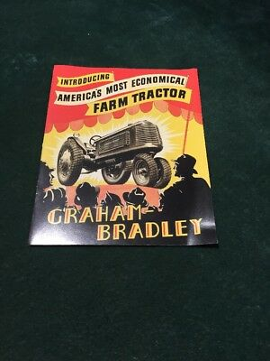 graham bradley tractor advertisement add fold out   rare