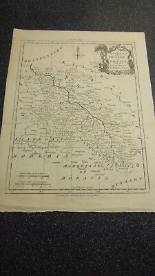 Circa 1795 An Accurate Map Of The Dutchy Of Silesia By T. Kitchin