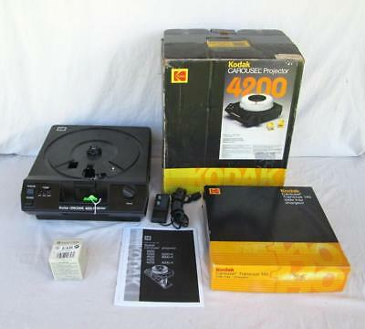 Kodak 4200 Carousel Slide Projector With Remote & Spare Lamp & Tray Refurbished