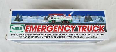 Hess Toy Emergency Truck 1996 With Search Light, Horn, & More New In Box