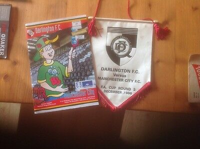 darlington football programmes