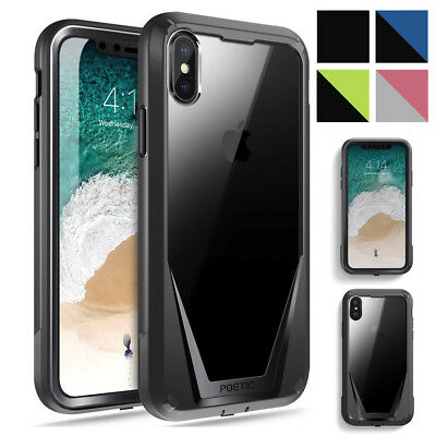 "For iPhone X / iPhone XS Case Poetic Guardian ""Rugged Heavy Duty"" Cover 4 Color"