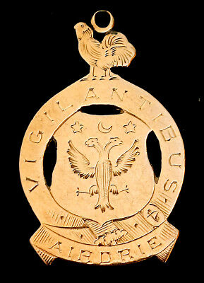 9ct Gold Scottish Football Medal Lanarkshire Express Cup Winners 1910 Airdrie FC
