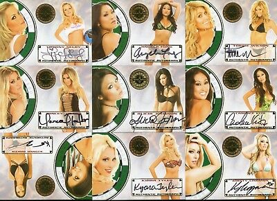 Benchwarmer lot of 9 Autographs Auto Vegas Baby with Torrie Wilson Candace Kita