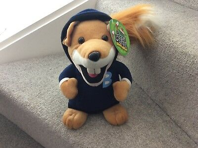 "11"" BASIL BRUSH  SOFT TOY RETRO BBC TV FOX IN BLUE HOODIE new&tags"