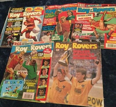 Roy of the Rovers comic book x5