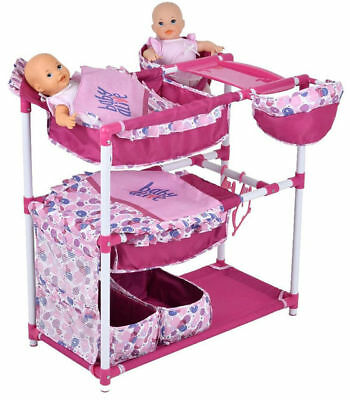 NEW Baby Alive Doll Sweet Nursery Play Center Twin Bed Highchair Snackin Eat HTF