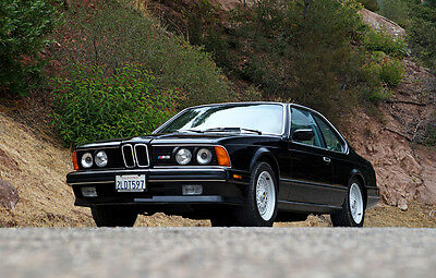 1988 BMW M6  1988 BMW M6 - Stunning, 50k Orig. Miles, One BMW Factory Mechanic Owner, CA E24