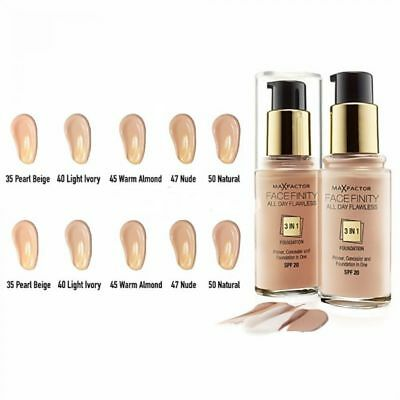 Max Factor Facefinity 3 in 1 Flawless Foundation 30ml Various Shades