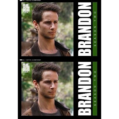 2x FEAR CLASSIC MARATHON SERIES 3 BRANDON Walking Dead Trader Digital