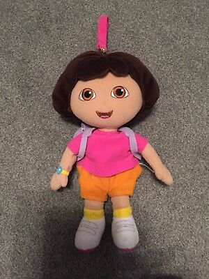 Official Dora the Explorer Soft Plush Doll Toy with backpack and detachable loop