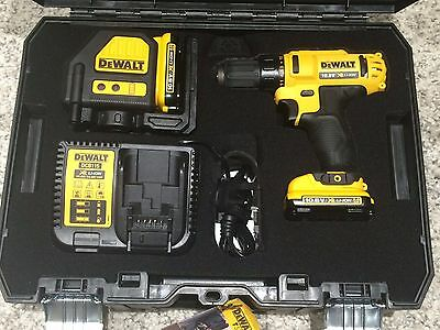DeWalt Li-Ion Battery 10.8 Volt, 2.0Ah for Drill, Green and Red Laser